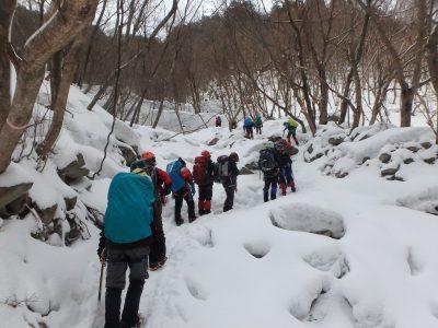 雪上技術練習会及び堂満岳例会