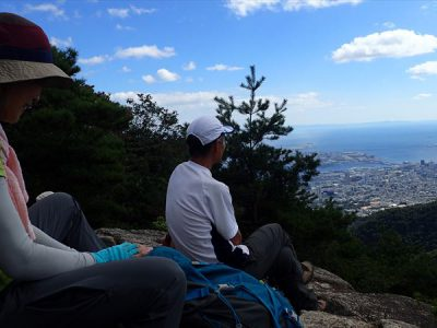 六甲山系 摩耶山~穂高湖(シェール槍)~長峰山